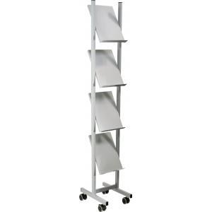 Mobilný prezentačný stojan Helit 4xA4 sivý/kov