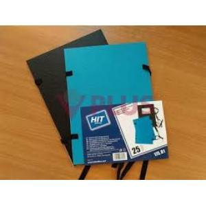 Spisové dosky A5 HIT OFFICE jednostranne lakované čierne/modré