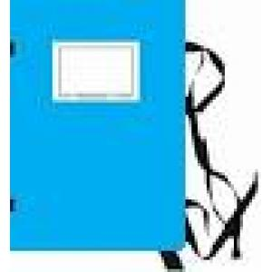 Spisové dosky A4 s etiketou HIT OFFICE modré