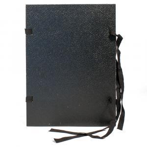 Spisové dosky A4 so šnúrkami čierne
