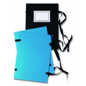 Spisové dosky A4 s etiketou HIT OFFICE čierne