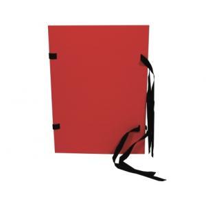 Spisové dosky A4 červený prešpán