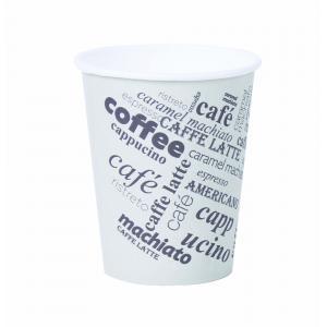 Papierový pohár 0,2l `Coffee to go` s motívom 50ks