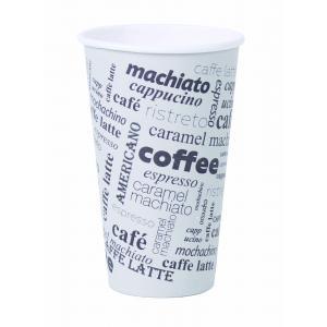 Papierový pohár 0,4l `Coffee to go` s motívom 50ks