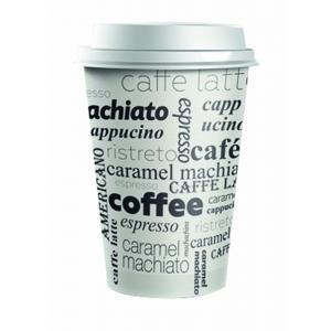 Plastové viečko biele 80 mm `Coffee to go` 100ks