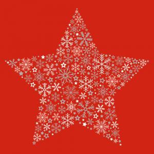 Vianočné servítky červená hviezda 33x33cm