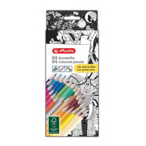 Farebné ceruzky k antistresovým omaľovánkam 24 farieb
