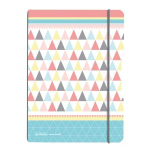 Zošit my.book Flex Graphic Pastels trojuholníky A5 40listov štvorčekový  PP