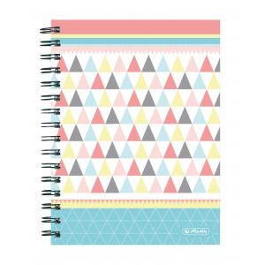 Blok College Herlitz A5 100 listov Graphic Pastels trojuholníky