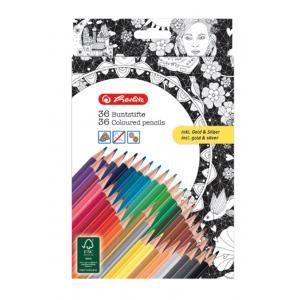 Farebné ceruzky k antistresovým maľovankám 36 farieb