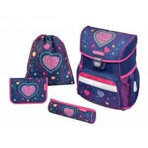 Školská taška Loop Srdcia Herlitz sada