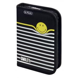 Peračník 1 zipsový plný 1-klopý Herlitz Smiley World Pásiky