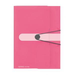 Obal na dokumenty s gumičkou Herlitz A4  Color Blocking indonézska ružová