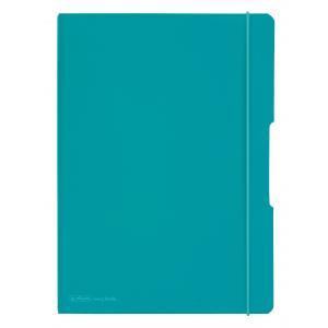 Zošit Herlitz my.book Flex A4 2x40 listov linajkový štvorčekový PP tyrkysový