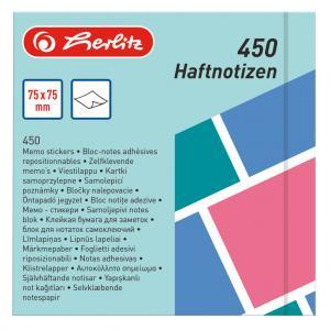 Bloček Herlitz Color Blocking 75x75mm 450 listov farebný