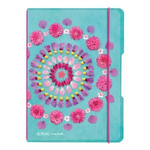 Zošit Herlitz my.book Flex kvety A5 40 listov štvorčekový PP