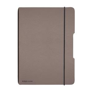 Zošit my.book Flex sivo hnedý A4 40listov štvorčekový koženka