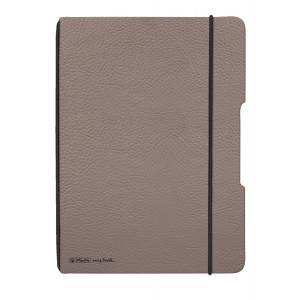 Zošit my.book Flex sivo hnedý A5 40listov štvorčekový koženka