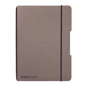 Zošit my.book Flex sivo hnedý A6 40listov štvorčekový koženka