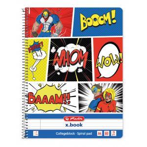Blok College Herlitz A4 80 listov Comic linajkový