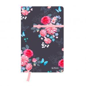 Zápisník Herlitz Ladylike A5 štvorčekový Kvety