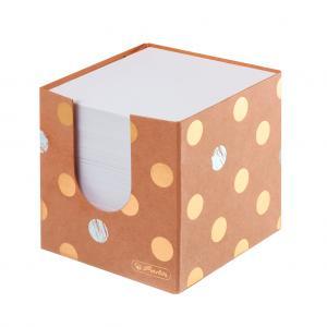 Blok kocka nelepená Herlitz Pure Glam 90x90x90mm kartónová krabička