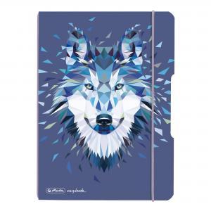 Zošit Herlitz my.book Flex Wild Animals A5 40 listov štvorčekový PP vlk