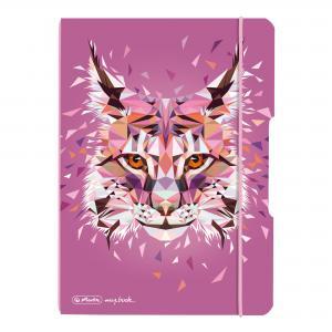 Zošit Herlitz my.book Flex Wild Animals A5 40 listov štvorčekový PP rys