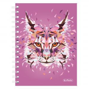 Blok poznámkový štvorčekový Herlitz Wild Animals A5 100 listov rys