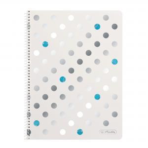 Blok poznámkový štvorčekový Herlitz Frozen Glam A4 80 listov