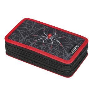 Peračník Herlitz 2 zipsový plný Pavúk