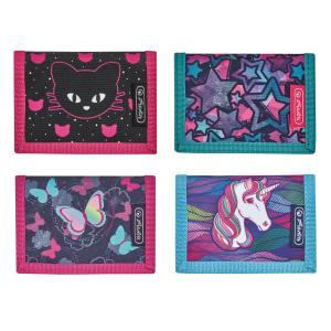 Peňaženka Herlitz 11,5x8x2cm mix Jednorožec Hviezdy Motíle Mačka