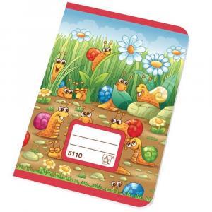 Zošit školský 5110 A5 10 listov štvorčekový 10x10 mm bezdrevý