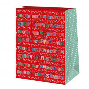Vianočná darčeková taška 19,5x28x10cm Veselé Vianoce