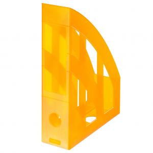Stojan na časopisy Herlitz transparentný oranžový