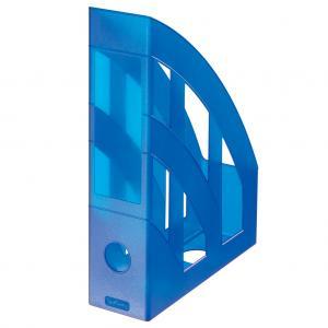 Stojan na časopisy Herlitz transparentný modrý