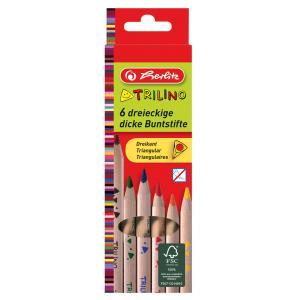 Pastelky Herlitz Trilino trojhranné 6 farieb