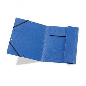 Prešpánový obal s gumičkou Herlitz modrý