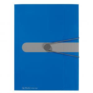 Plastový obal s gumičkou Herlitz Easy Orga modrý
