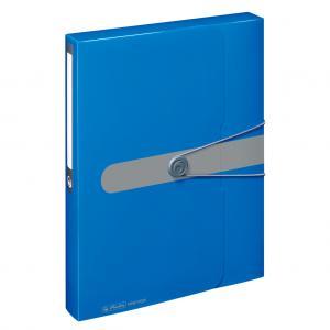 Plastový box s gumičkou Herlitz Easy Orga A4 PP modrý