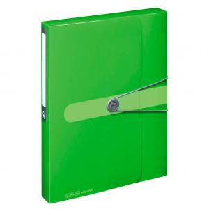 Plastový box s gumičkou Herlitz Easy Orga A4 PP zelený