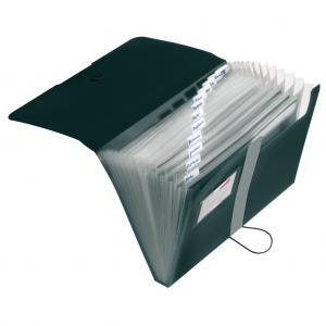 Aktovka plastová s priehradkami Herlitz Easy Orga nepriehľadná čierna