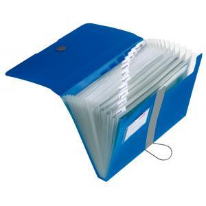Aktovka plastová s priehradkami Herlitz Easy Orga nepriehľadná modrá