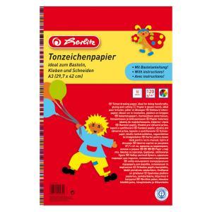 Farebný papier Herlitz 10 listov A3 lep.blok 120g