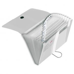 Aktovka plastová s priehradkami Herlitz Easy Orga transparentná číra