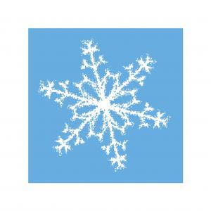 Vianočné servítky snehová hviezda 25x25cm