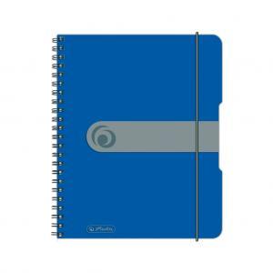 Blok poznámkový štvorčekový Herlitz Easy Orga A5 80 listov modrý
