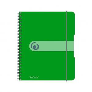 Blok poznámkový štvorčekový Herlitz Easy Orga A5 80 listov jablkovo zelený