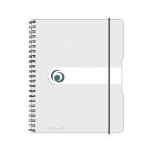 Blok poznámkový štvorčekový Herlitz Easy Orga A5 80 listov transparentný biely