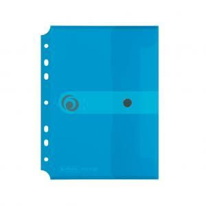 Plastový obal A5 s cvočkom a eurodierovaním Herlitz Easy Orga priehľadný modrý